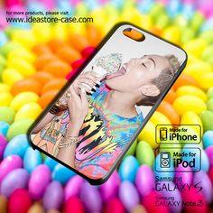 Miley Cyrus ice cream lick Case for iPhone by hamamerajarela, $13.99