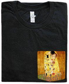 The Kiss Pocket Shirt Gustav Klimt by GrayClothing on Etsy