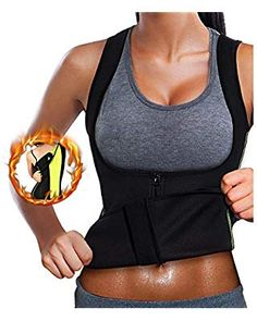 13af03fc7fa Women Waist Trainer Corset Neoprene Sweat Sauna Vest with Zipper for Weight  Loss Tummy Control Fat