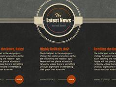 latest news fonts/header