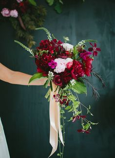 Berry-hued Botanical Wedding Inspiration | Green Wedding Shoes Wedding Blog | Wedding Trends for Stylish + Creative Brides
