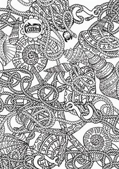nautical coloring page adult coloring pagescoloring