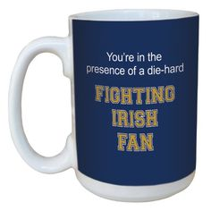 TreeFree Greetings lm44524 Fighting Irish College Football Fan Ceramic Mug with FullSized Handle 15Ounce -- More info could be found at the image url.