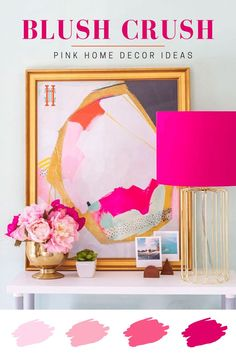 Pink isn't just for millenials, it's a gorgeous color to decorate with and I can't get enough of it. If you've been wanting to implement pink into your home but at a loss of how to do so, I've got you covered with some very stylish inspiration!  - Hadley Court - Interior Design Blog #Pink #InteriorDesign