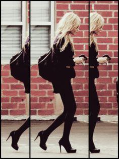 Get good at walking in heels