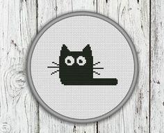 Black Cat Counted Cross Stitch Pattern  PDF by CrossStitchShop, $3.00