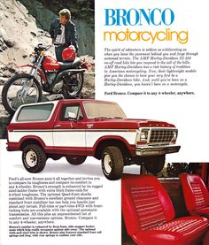 The original Bronco was an ORV (Off-Road Vehicle), intended to compete primarily with Jeep CJ models and the International Harvester Scout