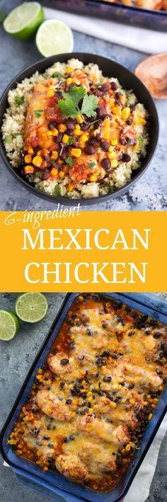 30 Minute, 6-ingredient Mexican Chicken @sargentocheese #ChoppedAtHome #ad
