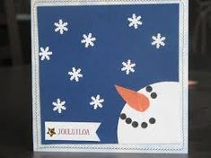 Image result for joulukortti askartelu ideat Christmas Cards To Make, Xmas Cards, Diy Cards, Punch Art Cards, Family Crafts, Craft Night, Homemade Cards, Snowflakes, Craft Supplies