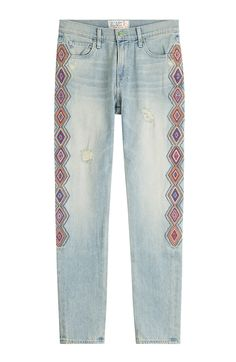 How to machine embroidery on jean pant legs google search embroidered jeans detail 0 ccuart Gallery