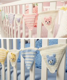 Whether celebrating a newborn's arrival or momentous first birthday, this bunting lends an air of happiness to the occasion. For everyday decorating crochet your pennants in your nursery's...