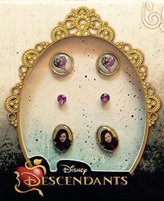 Disney Descendants Earrings for Girls ~ 3 pairs Disney Descendants Dolls, Descendants Costumes, Mal Descendants, Disney Princesses, Birthstone Jewelry, Disney Decendants, Girls Earrings, Simple Earrings, Disney Villains