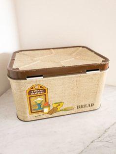 Bread Bin, Bread Boxes, Shop Signs, Vintage Metal, 1960s, Tin, Base, Trends, Instagram