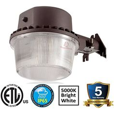 3,500 Lumen Outdoor Wall Light - Barn Style LED uses only 35watts - Includes Dusk to Dawn sensor – LED Yard Light with photocell - 5000K LED wall lights outdoors - 20 Year Life LED ** You can get additional details at the image link. (This is an affiliate link) #LightingCeilingFans