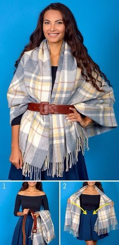 68 ideas how to wear clothes outfit blanket scarf Winter Mode Outfits, Winter Fashion Outfits, Trendy Fashion, Fashion Models, Ways To Tie Scarves, How To Wear Scarves, Autumn Look, Fall Looks, How To Wear Headbands