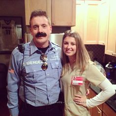 Piper and Officer Mendez (Pornstache) Couple Costume... Coolest Halloween Costume Contest