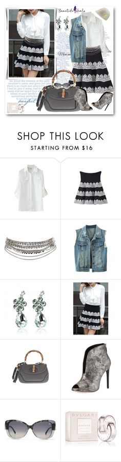 """""""BEAUTIFULHALO.COM-IV-49"""" by ane-twist ❤ liked on Polyvore featuring Pieces, Gucci, BCBGMAXAZRIA, Swarovski, Bulgari, Juicy Couture, women's clothing, women's fashion, women and female"""