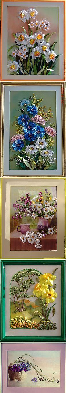 Великолепные картины лентами от Татьяны Марисовой