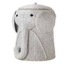 Your child will find keeping the bedroom floor clear of clothes a lot more fun with our Animal Hamper. This wicker laundry basket is expertly handcrafted into the shape of a friendly elephant with a c