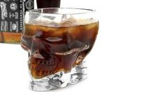 Pirate Skull Drinking Glass - A set of these will be in Adam's man cave for sure!