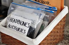 "How To Organize Electronics [Tutorial] : ""Love this method of organizing cords and cables. I can't stand our big tangled mess of cords we have sitting in a drawer."""