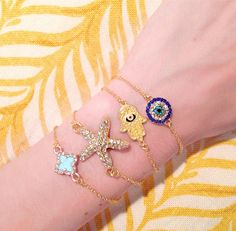 Evil Eye, Hamsa, Starfish, Clover | Build Your Bracelet Now at LunaMarin.com