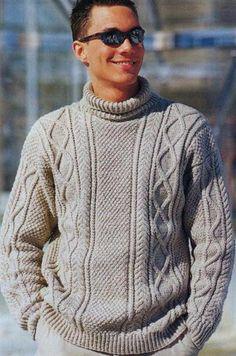 Модели вязки мужских свитеров
