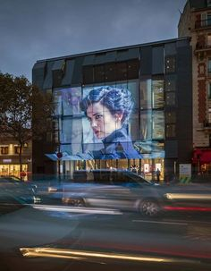 Gaumont-Pathé Alésia Cinemas by Manuelle Gautrand Architecture, Paris – France Cinema Architecture, Interactive Architecture, Interactive Walls, Architecture Photo, Education Architecture, Historical Architecture, Mall Facade, Retail Facade, Shop Facade