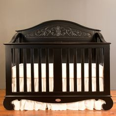 DROLL WORTHY: Chelsea Lifetime Crib Distressed Black Is A Show Stopper And  The Perfect Neutral