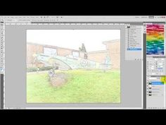 How to convert a color photo to a sketch image with Photoshop - YouTube