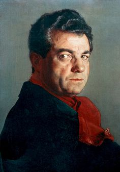 Portrait of Salvatore Ferragamo by Pietro Annigoni (1910-1988)