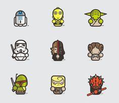Cute 'Star Wars' Illustrations