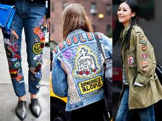 Patches were cool in the 90's, but are now making their fashion comeback!