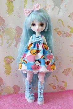 """Leekeworld Art Body Sized Kawaii Hello Kitty Lolita Dress"" by PinkGunDollhouse"