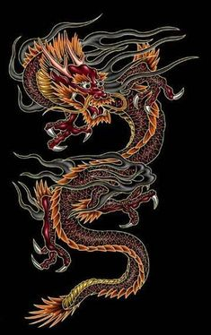 Dragon ~ Master of Mystical Fire ~ is the oldest and wisest spirit-animal, illuminating collective unconsciousness through lightning Fantasy Kunst, Fantasy Art, Art Chinois, Japanese Dragon Tattoos, Asian Dragon Tattoo, Dragons, Year Of The Dragon, Dragon Artwork, Dragon Pictures