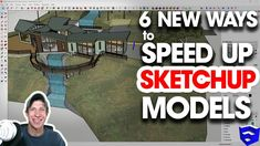 In this video, we go through 6 new ways to speed up and optimize your SketchUp models! 3d Interior Design Software, Rhino Tutorial, Google Sketchup, Modeling Techniques, Models Wanted, Sketchup Models, Science And Technology, Tutorials, Architecture