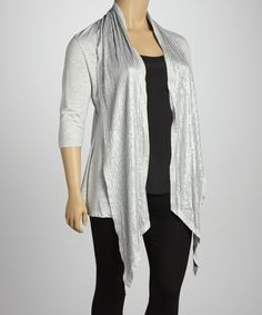 Take a look at this Light Studded Open Cardigan - Plus by Beestango on #zulily today!