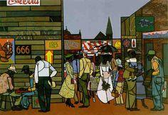 Robert Gwathmey (1903 - 1988) saturday afternoon (1949)