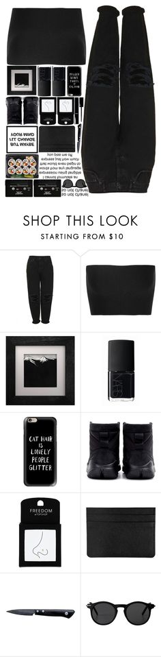 """""""Flipped"""" by tiffanyelinor ❤ liked on Polyvore featuring Boutique, Calvin Klein Collection, Eleanor Long, NARS Cosmetics, Casetify, NIKE, Topshop, Chanel, Kyocera and CASSETTE"""