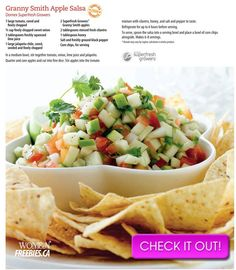 Costco Connection - A Decade of Cooking The Costco Way - 38 Appetizer Recipes, Salad Recipes, Appetizers, Plant Based Recipes, Vegetable Recipes, Great Recipes, Favorite Recipes, Costco Recipes, Apple Salsa