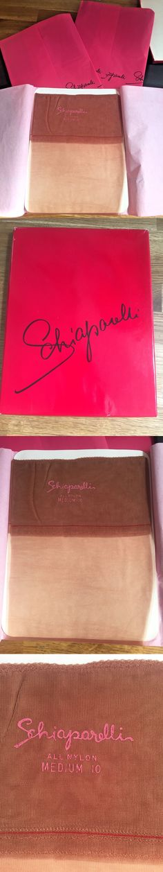Pantyhose and Stockings 182053: 3 Pairs Schiaparelli Vintage Stockings Demi Sheer Ginger Peachy Med Us 10 Uk 7-8 -> BUY IT NOW ONLY: $29.99 on eBay!