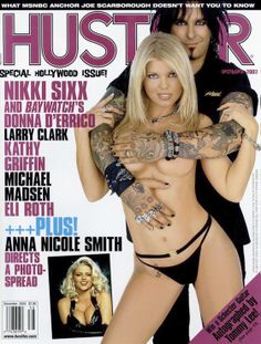 Throwback Thursday #TBT Featured on Hustler Dec 2003 cover, beautiful Donna D'Errico & Nikki Sixx