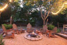backyard firepit areas | backyard firepit area - I like the ground, lighting and ... | House I ...
