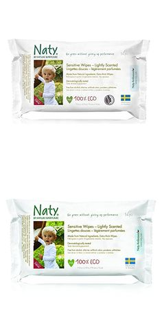 Naty Eco-Sensitive Baby Wipes - Lightly Scented - 56 ct