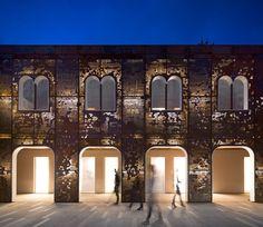 *캄피에오 광장을 재구성하는 코르텐 스틸강 타이포그래픽 [ 3ndy studio ] rehabilitation of the campiello in palazzo di vigonovo, venice :: 5osA: [오사]