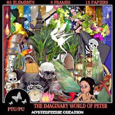 mysterfeerie creation: NEW KIT PTU THE  IMAGINARY WORLD OF PETER