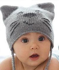 Схема схемы вязания спицами детская шапочка в виде кота и митенки