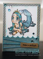 Card featuring Mermaid Queen from Some Odd Girl! http://joboogie.typepad.com/stamping/2014/04/some-odd-girl-digi-release-day-party-crab-mermaid-queen-someoddgirl.html