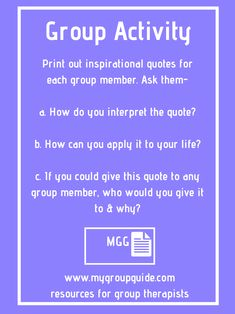 Group Activity To Boost Self Esteem Inspirational Quotes Therapy Activities For Smental Health
