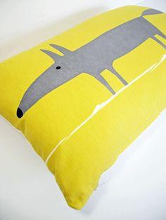Harlequin Scion Mr Fox Scandinavian Vtg Retro 60s Fabric Cushion Cover Yellow | eBay